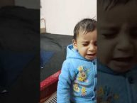 Cute Babys' reaction Scolding vs Care by his Mom